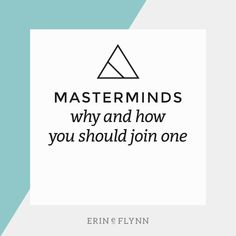 Going it alone in business is no fun. By joining a mastermind group you can get support, new ideas, and move your business forward.