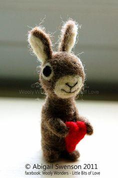 Christmas Ornament - The Love Bunny Rabbit with Red Heart - Velveteen rabbit -  Perfect Christmas Gift Stocking Stuffer Brown. $33.00, via Etsy.