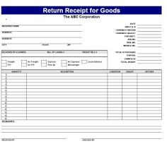 Receipt for goods receipt for goods template My Excel Templates