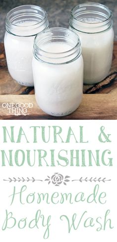 Britta's Natural & Nourishing Homemade Body Wash | One Good Thing By Jillee