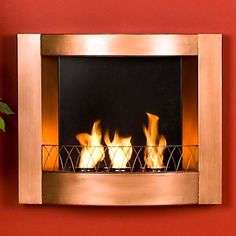Indoor/Outdoor Wall-Mounted Gel-Fueled Fireplace at HSN.com.