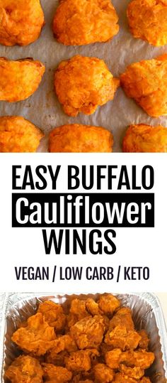 How to make crispy baked buffalo cauliflower wings, super healthy recipe that's . - How to make crispy baked buffalo cauliflower wings, super healthy recipe that's vegan and low car - Healthy Recipes For Diabetics, Healthy Meals For Two, Super Healthy Recipes, Healthy Crockpot Recipes, Best Vegan Recipes, Breakfast Healthy, Easy Foods To Make, Kids Dinner Ideas Healthy, Healthy Recipes For Dinner
