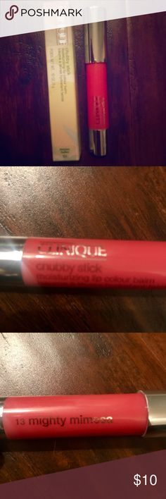 Clinique Chubby Stick in Mighty Mimosa Color Clinique Chubby Stick in Mighty Mimosa Color. Brand new in box, never used. Clinique Makeup Lip Balm & Gloss