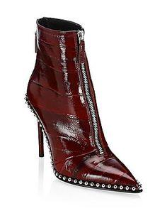 ed867fb57cf4 Alexander Wang Eri Studded Leather Booties Studded Leather