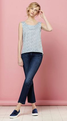 Sewing Bee Sleeveless Shell Top- free pattern from Sew Home & Style mag.