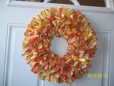 Creamsicle Cloth Wreath by WreathClothsbyDee on Etsy, $25.00