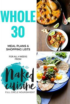 Free Whole30 Meal Plan and Shopping List