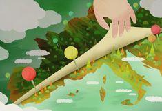 colorful digital illustrations of UK-based Scott Balmer Heart Illustration, Map Globe, Photoshop, Types Of Art, Album Covers, Illustrators, Graphic Design, Drawings, Creative