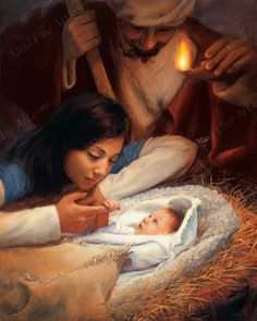 The Lord Jesus Christ. Our Heavenly Father sent His Son, Jesus Christ, to be our Savior and show us the way to true happiness by living. Pictures Of Christ, Jesus Christus, Lds Art, Birth Of Jesus, Baby Jesus, A Child Is Born, O Holy Night, Visiting Teaching, Christmas Nativity