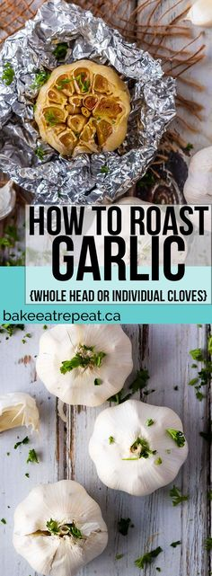 Roasted garlic is fantastic in so many recipes. Today I'm sharing how to roast g. - Appetizer Recipes - Roasted garlic is fantastic in so many recipes. Today I'm sharing how to roast garlic in the oven, either as a whole head, or individual cloves! Garlic Recipes, Roast Recipes, Vegetable Recipes, Vegetarian Recipes, Cooking Recipes, Healthy Recipes, Cooking Tips, Cooking Vegetables, Dip Recipes