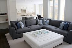 Grey Couch Living and Family Rooms - contemporary - family room - toronto - Ungerman Homes