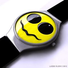 Acid Wrist Watch    One of several versions of a watch idea I had back in 2004.