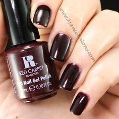 Red Carpet Manicure I Own The Runway Gel Polish #redcarpetmanicure #gelpolish #nails #burgundy
