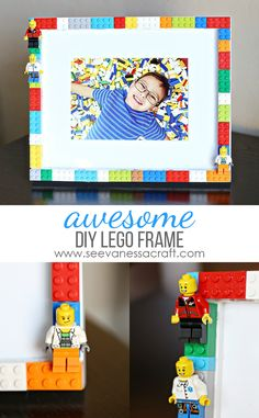 DIY Easy LEGO Frame Tutorial - perfect for a LEGO bedroom or party!