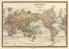 Mapa histórico del mapa del mundo mapa del mundo por AncientShades