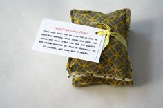 Cozy Mini Hot/Cold Rice Pack Grey and Yellow by mypoplin on Etsy, $6.00