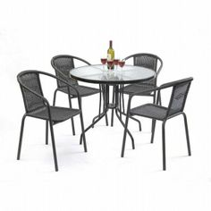 Nardi White Toscana 100 Flora Garden Furniture Set  4 Seats Adorable Cheap Dining Room Sets Under 100 Decorating Inspiration
