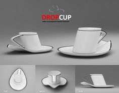 Coffee cup inspired by water drop by Apostol Tnokovski.