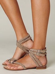 Braided sandals--wonder if they come in brown (ya know, for my imaginary closet...)
