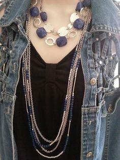 Santorini & True Blue Necklaces View the Premier Designs Bullet Jewelry, Geek Jewelry, Gothic Jewelry, Fashion Jewelry, Jewelry Ideas, Premier Jewelry, Premier Designs Jewelry, Jewelry Design, Premier Designs Catalog