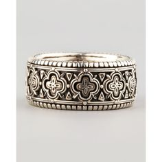 KONSTANTINO Carved Sterling Silver Band Ring ($250) ❤ liked on Polyvore