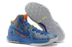 timeless design d27be b0e56 Royal Blue 554988 400 Nike Zoom KD V Christmas Womens Orange White Nouvelle  Nike, Sport