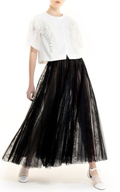 Tulle Midi Skirt by Georges Hobeika