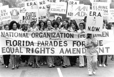 Equal Rights Amendment parade - National Organization for Women (NOW)