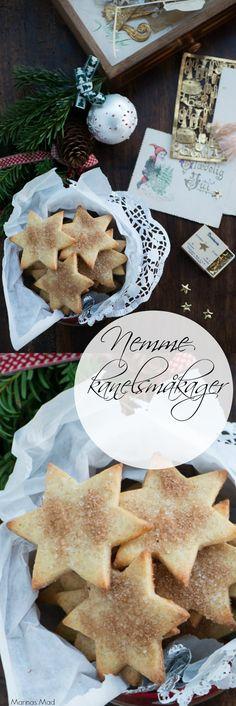 Nemme kanelsmåkager bagt af en nem og børnevenlig grunddej. Ren julehygge. Opskriften er fra Marinas Mad hvor den samme nemme småkagedej også bruges til andre småkager.