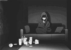 The perfect Sad Alone Anime Animated GIF for your conversation. Anime Triste, Triste Gif, Art Triste, Anime Boys, Sad Anime Girl, Manga Anime, Anime Art, Anime Girl Crying, Charlotte Anime