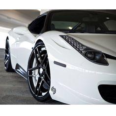 Gorgeous White Ferrari 458 Italia