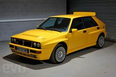 evo's boss Harry Metcalfe talks us round his latest buy - a yellow Lancia Delta Integrale Evo II Giallo Ginestra Lancia Delta, E30, Maserati, Ultimate Garage, Hatchback Cars, Good Old Times, Yellow Car, Motorcycle Design, Top Gear