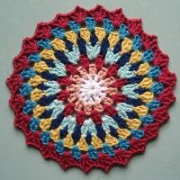 Crochet Mandala Wheel made be Tallie, Canada, for yarndale.co.uk
