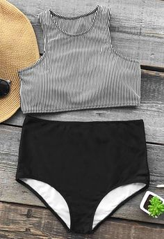 This summer is gonna be so lit! Celebrate the season with Cupshe Enjoy Summer Time Tank Bikini Set. Bagging yourself the perfect stripe swimwear is the secret to feeling body beautiful at the beach. Faster Shipping. Check it out.