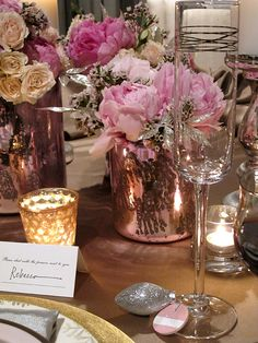 LOVE LOVE LOVE THIS Pink and Gold Wedding