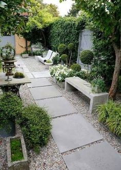39 Small garden design for small backyard ideas - garden .- 39 Small garden design for small backyard ideas design ideas - Backyard Patio Designs, Small Backyard Landscaping, Landscaping Ideas, Desert Backyard, Landscaping Plants, Narrow Backyard Ideas, Small Patio, Courtyard Landscaping, Courtyard Ideas
