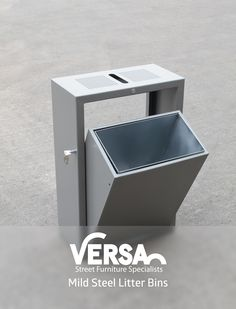 Tipper mild steel litter bin by Versa. Designed to be an easy to empty style… Cheap Patio Furniture, Urban Furniture, Street Furniture, City Furniture, Furniture Design, Furniture Online, Furniture Ideas, Banco Exterior, Lanscape Design
