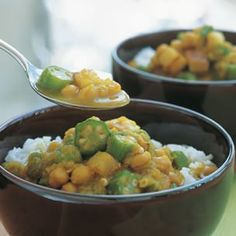 Curried Chickpea and Okra Stew