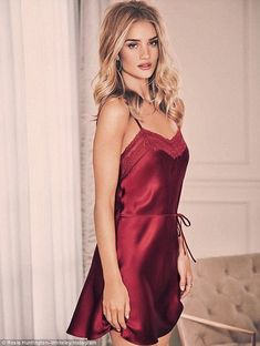Love our Silk Strappy Chemise. Figure-flattering and feminine! Link in bio for full sleepwear and lingerie collection 🎁❤️🎄 Jolie Lingerie, Satin Lingerie, Vintage Lingerie, Lingerie Models, Victoria Secrets, Rosie For Autograph, Rosie Huntington Whiteley, Lingerie Collection, Beautiful Lingerie
