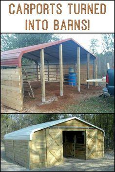 Enclosing a metal carport questions doityourself turn a carport into a barn easy diy solutioingenieria Choice Image