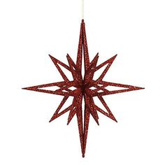 16 inch Red Iridescent Star Christmas Ornament