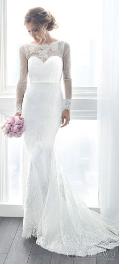christina wu brides spring 2017 bridal illusion long sleeves illusion bateau neck sweetheart lace sheath wedding dress (15622) mv train sophisticated elegant
