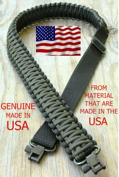 Adjustable Paracord Rifle Gun Sling Strap With Swivels OD Green & Black   Sporting Goods, Hunting, Range & Shooting Accessories   eBay!