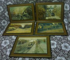 Vic Millington Railway Art Prints on Wooden Frames - Pictures (Cornwall) Ltd