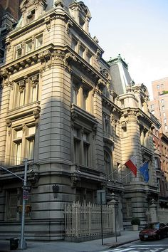 The Joseph Raphael De Lamar House, 233 Madison Avenue, Beaux Arts mansion designed by C.P.H. Hilbert, and built between 1902 and 1905 for a Dutch-born maritime captain and copper mogul who made his fortune in the California Gold Rush. It is now the Consulate General of the Republic of Poland.
