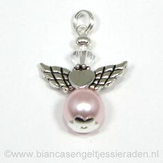 Hangertje Beschermengeltje Crystal Rosaline Clear http://www.biancasengeltjessieraden.nl/c-2017591/beschermengeltjes-hangertjes/