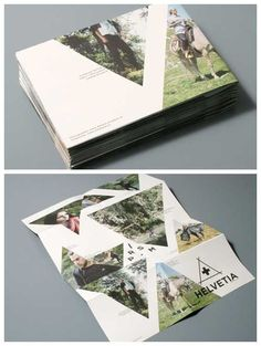 brochure design - great use of shapes and with basic folds - to make something special.