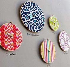 20 Ideas DIY para crear relojes de pared con objetos reciclados.   Mil Ideas de Decoración