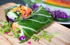 Raw Rainbow Collard Greens Wrap Recipe