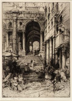 Little Market, Vincenzia 1918 Hedley Fitton Born: England 1857 Died: London, England 1929 etching no measurements Smithsonian American Art Museum Croquis Architecture, Etching Prints, American Art, Painting & Drawing, Art Museum, Printmaking, Graphic Art, Concept Art, Art Drawings